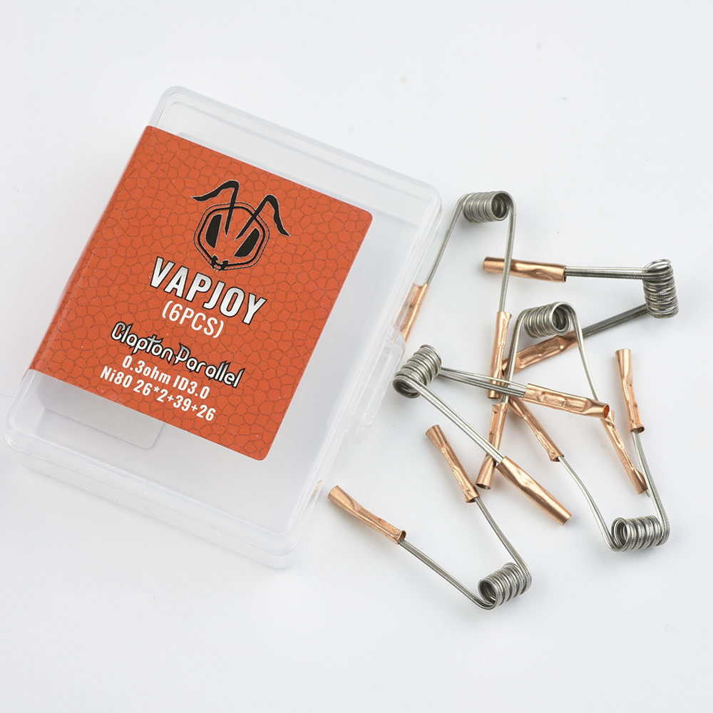 VAPJOY CS0601 6pcs Ni80 Clapton Parallel 0.3ohm
